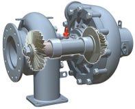 турбонагнетатель cutaway Стоковые Изображения RF