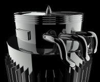 турбореактивность двигателя Стоковая Фотография