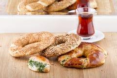 Турецкая еда печенья на деревянном Стоковое Фото