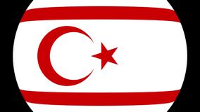 Турецкая республика северного перехода 4K флага Кипра сток-видео