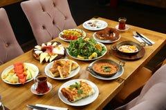 Турецкая таблица завтрака Стоковое Изображение