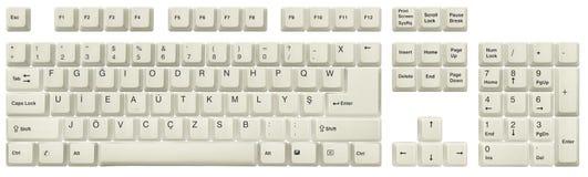 Турецкая-F клавиатура белая стоковая фотография