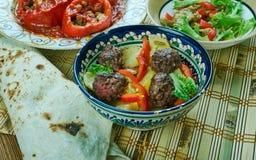 Турецкие картошки с фрикадельками Стоковая Фотография