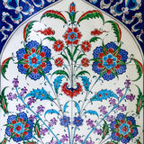 Турецкие керамические плитки oriental, Турция Стоковые Фотографии RF