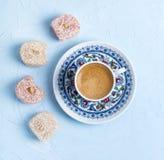 Турецкие lokum и кофе стоковые изображения rf