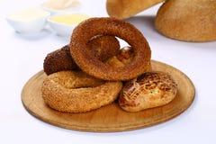 Турецкие simit и pogaca печенья стоковое фото rf