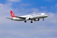 Турецкий аэробус A321 авиакомпании Стоковые Фото