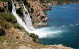 Турецкий водопад Duden стоковое фото rf