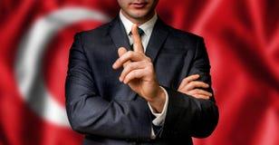 Турецкий выбранный говорит к толпе людей стоковые фотографии rf