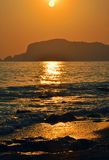 Турецкий заход солнца Стоковое Изображение
