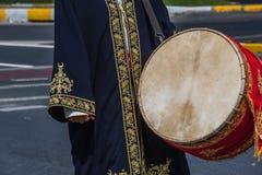 Турецкий марш военного оркестра тахты для военного парада стоковая фотография rf