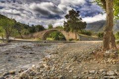 Турецкий мост spanning tamos Preveli Крит ² Megapà реки Стоковое Изображение