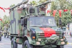 Турецкий парад военных транспортных средств в Турции стоковое изображение