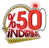 Турецкий процент масштаба скидки Стоковая Фотография