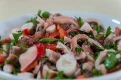 Турецкий салат осьминога Стоковая Фотография