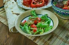 Турецкий салат с баклажаном стоковое фото