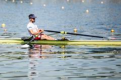 Турецкий спортсмен на rowing конкуренции чашки мира гребя Стоковое фото RF
