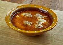 Турецкий суп с фрикадельками Стоковое Фото