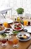 Турецкий традиционный завтрак Стоковая Фотография