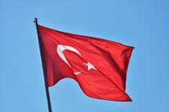 Турецкий флаг Стоковая Фотография