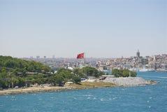 Турецкий флаг Стоковое Изображение RF