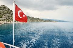 Турецкий флаг Стоковое фото RF