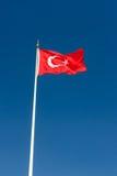 Турецкий флаг Стоковые Изображения