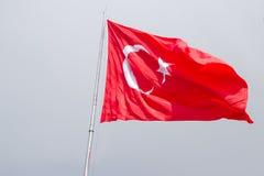 Турецкий флаг Стоковое Изображение