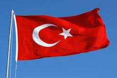 Турецкий флаг Стоковое Фото