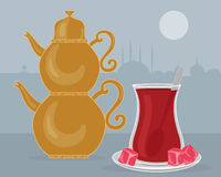 Турецкий чай Стоковая Фотография RF