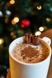 Турецкий Salep с ручками циннамона/Eggnog рождества Стоковое Фото