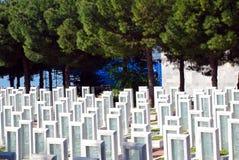 Турецкое воинское кладбище Стоковое Изображение