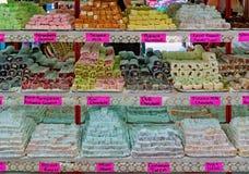 Турецкое наслаждение и конфеты стоковое изображение