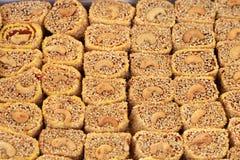 Турецкое наслаждение Lokum Сладостные конфеты с гайками Стоковое Изображение RF
