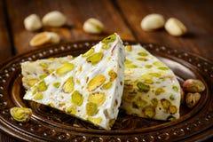 Турецкое наслаждение Арабский десерт с и Стоковое Фото