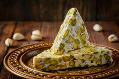 Турецкое наслаждение Арабский десерт с и Стоковая Фотография RF
