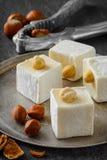 Турецкое наслаждение Восточный десерт с фундуком дальше Стоковые Фото