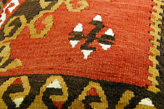 Турецкое kilim с апельсином и коричневым цветом стоковые фотографии rf