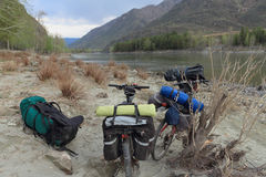 Туризм велосипеда Стоковые Изображения
