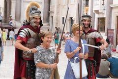Туризм в разделении, Хорватии/римских Legionaries Стоковое Изображение