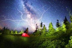 Туризм грозы шторма Стоковые Фотографии RF