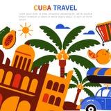 Туризм Кубы знамени Стоковое Фото