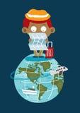 Туризм на земле Стоковые Фото