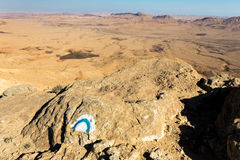 Туризм пустыни утеса направления знака следа новаторский Стоковые Фото