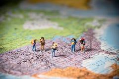 Туризм США и концепция перемещения Фото макроса Настроенный тон цвета Стоковое Изображение