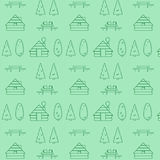 Туризм Eco летних каникулов, располагаясь лагерем в лесе, безшовная предпосылка вектора бесплатная иллюстрация
