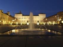 Турин - аркада Castello Стоковое Фото