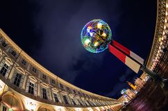 Турин, аркада San Carlo Италия стоковое изображение rf