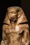 ТУРИН, ИТАЛИЯ - 25-ое мая 2019: Статуя губернатора Wahka на египетском музее - изображении стоковое изображение rf