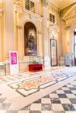 Турин, Пьемонт, Италия, 19-ое августа 2017 Внутренняя комната Carigna Стоковое Изображение RF